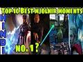 Top 10 best mjolnir moments in mcu | Thor hammer mjolnir moments | HiNDi Captain Hemant
