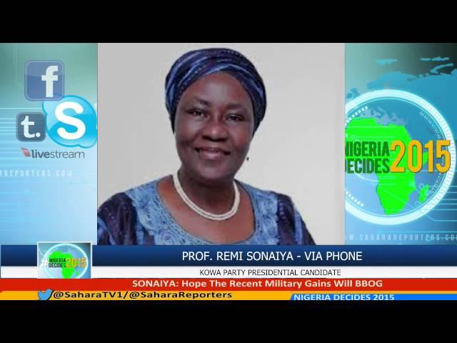 #NIGERIADECIDES 2015 Pres. Candidate REMI SONAIYA