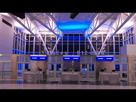 HD IAH Part 8 United Airlines NEW Terminal B at Night Houston Intercontinental Airport Continental