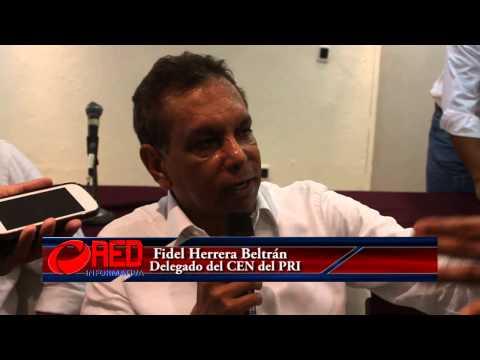 El delegado del PRI en Oaxaca, Fidel Herrera arribó a Tuxtepec