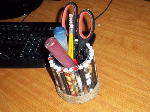 C�mo hacer un porta lapices con materiales reciclados