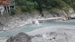 Confluence of rivers in Tianxiang, Taroko National Park, Hualien, Taiwan