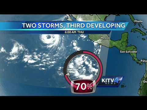 3rd storm developing in Pacific