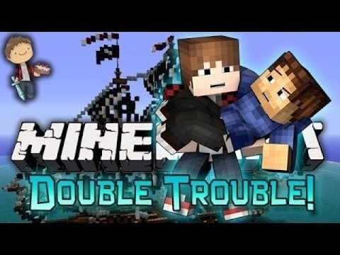 Minecraft: Bajan Canadian + Woofless VS Lachlan + Preston! Double Trouble Mini-Game