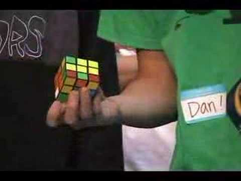Dan Dzoan's One-Hand Rubik's Cube (Former) World Record