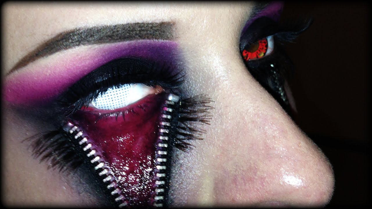 Easy Halloween Makeup  Unzipped Eye SFX Tutorial without - Easy Halloween Eye Makeup