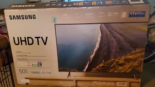 "Samsung 50"" 4K UHD RU7200 (2019) Smart TV Unboxing"