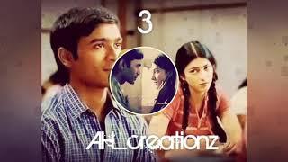 3  heart touching bgm  whatsapp status  Dhanush  s