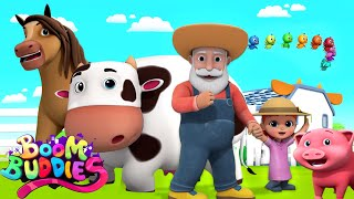 Old MacDonald Had A Farm | Farm Song | Nursery Rhymes For Children By Boom Buddies