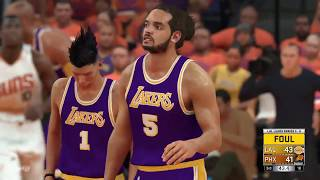 NBA 2K17 Los Angeles Lakers vs Phoenix Suns Game 4 Western Conference Finals