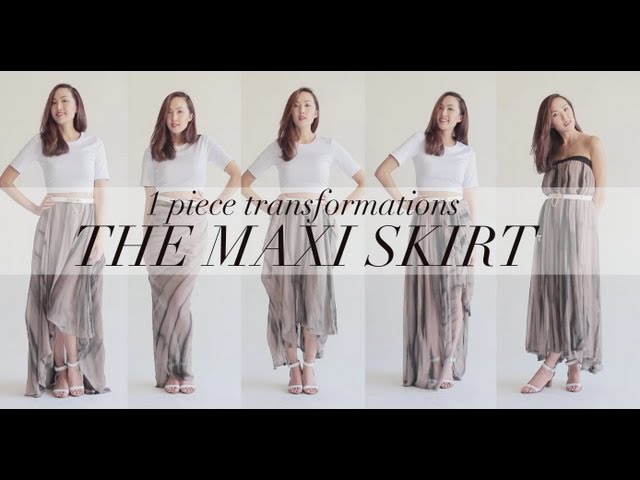 1 Piece Transformations- The Maxi Skirt