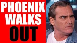 JOKER - Joaquin Phoenix WALKS OUT of Interview When ASKED About This...