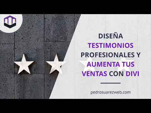 Cómo diseñar testimonios profesionales con Divi - #4. Módulo Slider con vídeo