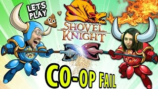 FGTEEV Mom & Dad play SHOVEL KNIGHT #1!  a Co-Op Fail? (Amiibo Dig Race Unboxing Challenge)