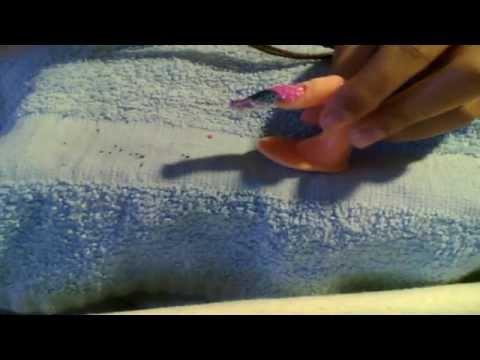 Diseño de Uñas: Concha Nacar, glitter y con flores en 3D