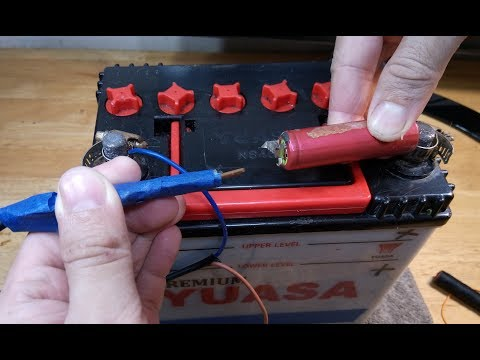 教你用汽車電池製作點焊機 How To Make a Spot Welder with a Car battery