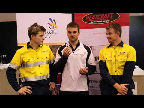 2014 WorldSkills Australia National Refrigeration Competition Day 3 highlights