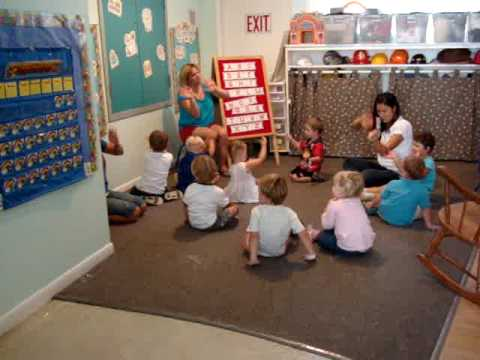 Circle Time at Preschool- West's 1st Day 082709