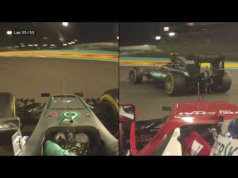 Rosberg's Intense Final Lap and Celebrations | 2016 Abu Dhabi Grand Prix