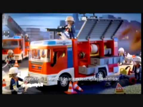 Playmobil fire station and ladder unit and fire engine youtube - Playmobil camion police ...