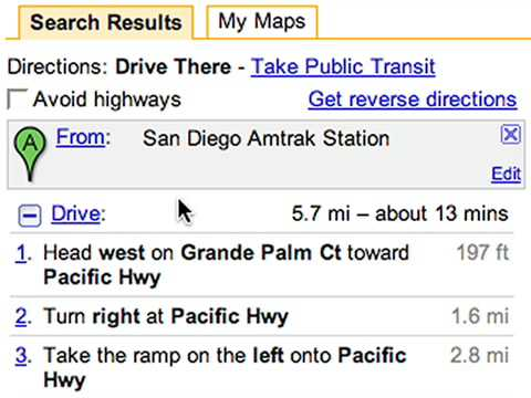 Transit on Google Maps