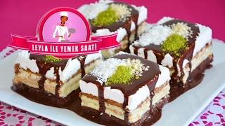Kek  Biskvi ve  Pudingli  Pasta Tarifi  Kuchen mit