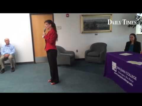 San Juan College President Toni Pendergrass talks about nursing partnership with UNM.