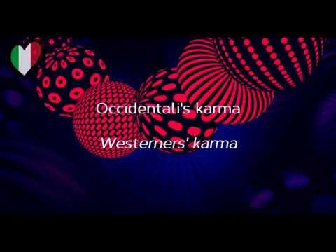 Francesco Gabbani   'Occidentali's Karma' lyrics and translation Italy ESC 2017