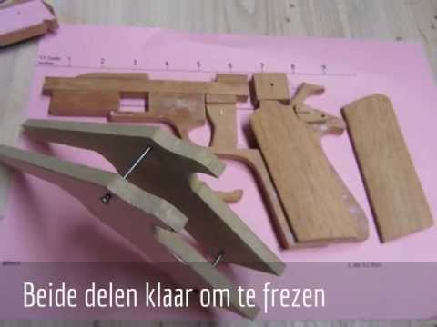 Rubber blowback wooden gun part 2  NOT FOR SALE