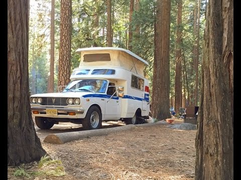 1977 Toyota Chinook Campervan RV Pop Top Motor Home With Digital Nomad Tour