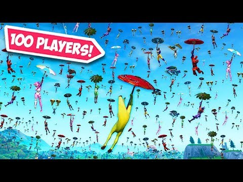 100 PLAYERS LAND in ONE SPOT!! - Fortnite Funny Fails and WTF Moments! #529