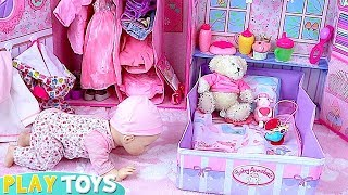 Baby Doll How to Set up Baby Born New Dollhouse with Toys! 🎀