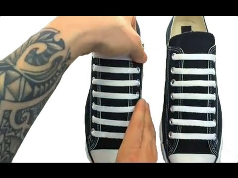 **How to Bar Lace CHUCK TAYLORS**