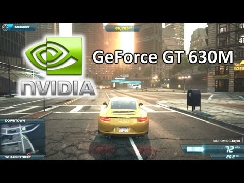 NFS Most Wanted 2012 on NVIDIA GeForce GT 630M - Free Roam PC Gameplay