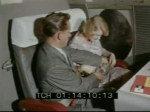 1950s vintage air travel - jet set glamour on board Viscount