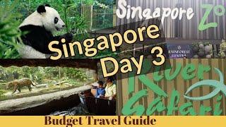 Singapore Budget Travel 2018 Day 3, Singapore Zoo, Singapore River Safari, Garden By The Bay