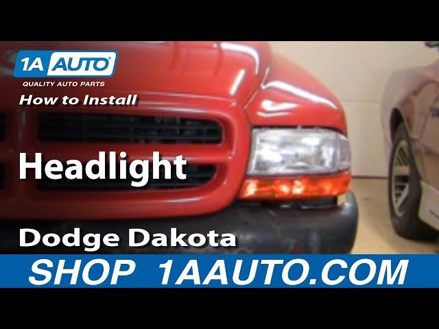 How To Install Replace Headlight Dodge Dakota Durango 97 ...