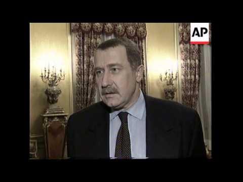 RUSSIA: NATO SECRETARY GENERAL JAVIER SOLANA VISIT