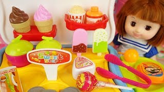 Baby doll Ice cream and candy shop toys baby Doli dessert play