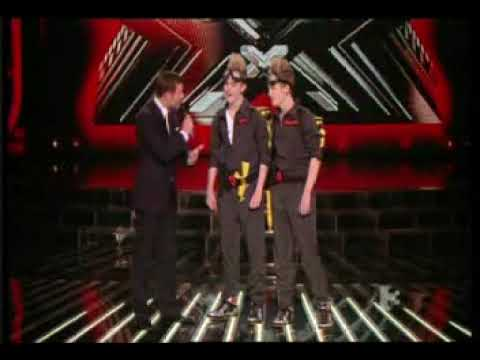 The X Factor John and Edward Jedward Ghostbusters !
