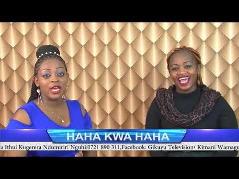SARAFINA SALIM AT HAHA KWA HAHA SHOW WITH ROSEMARY KAREY NA KIMANI WAMAGUI @GIKUYU TV