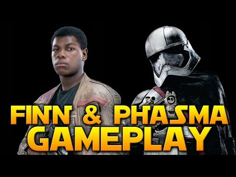 FINN & PHASMA GAMEPLAY - Star Wars Battlefront 2 The Last Jedi