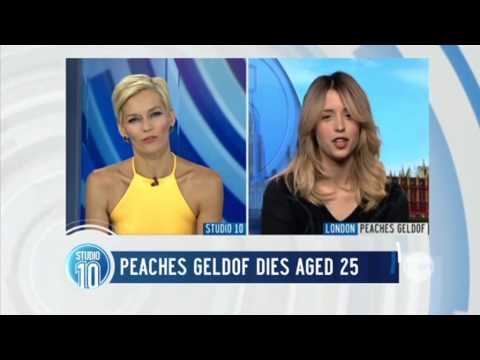 Last Peaches Geldof Interview on Studio 10
