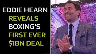 DEAL TO TAKE OVER AMERICA! Eddie Hearn $1 Billion DEAL | FULL PRESS CONFERENCE