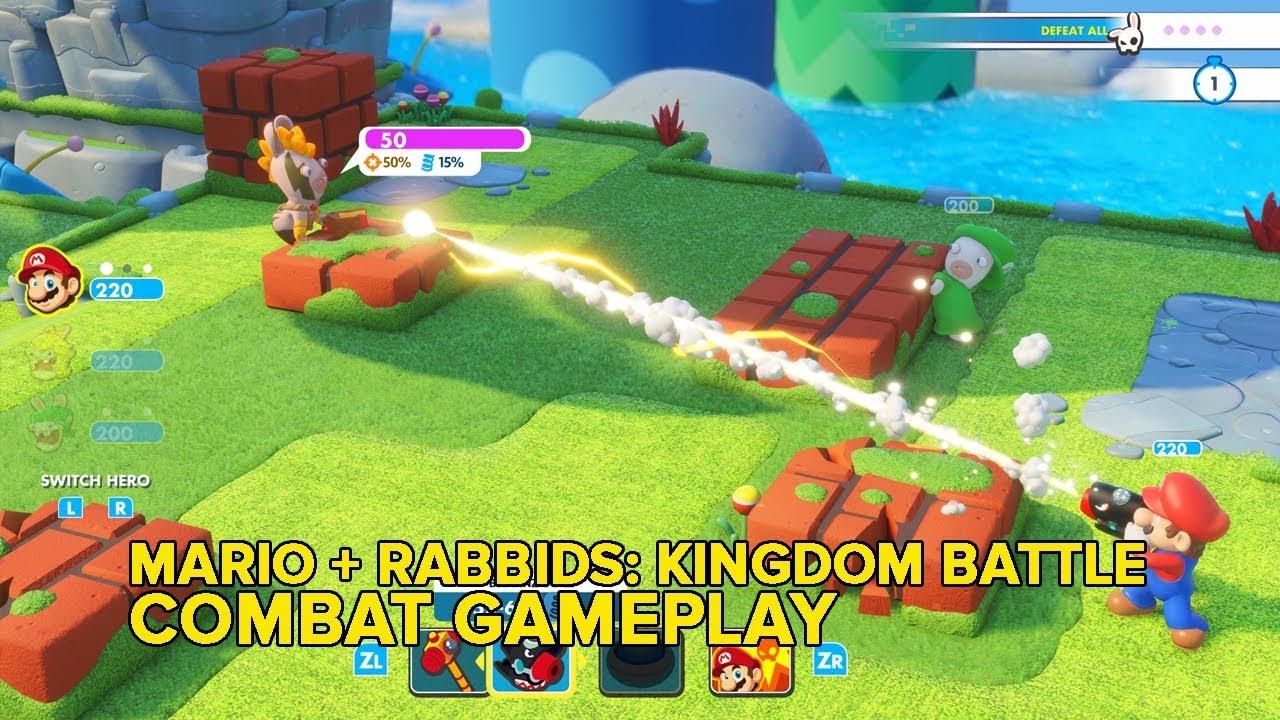 Mario + Rabbids: Kingdom Battle Gameplay -- Mike Teaches Jeff To Kill