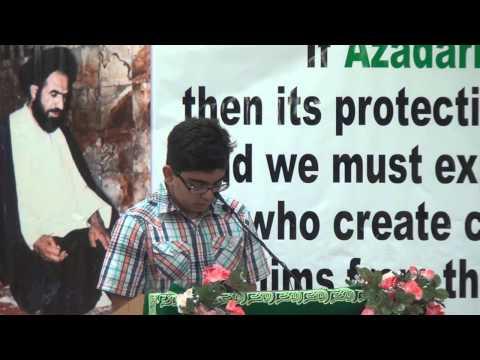 03 Presentation by Mesum Rizvi - 26th Martyrdom Anni. Shaheed...