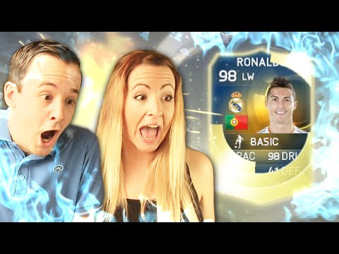 TOTS RONALDO PACKED BY OUR SISTER!! - FIFA 15 PACK OPENING