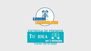 Entrega de premios 'Tu idea en 1 minuto'   Curso 19-20