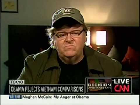 Michael Moore Takes on Obama's Afghanistan Escalation on Larry King Live, December 2, 2009