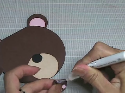 KUKU CARD Teddy Bear Invitation (Osito)